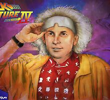 Michael j fox as Dr. Emmett brown by matan kohn