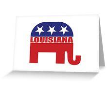 Louisiana Republican Elephant Greeting Card