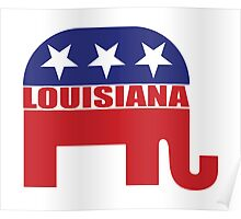Louisiana Republican Elephant Poster