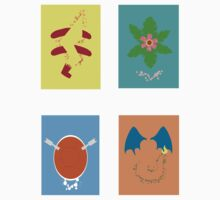 Kanto Starters patterns by circuitrycat