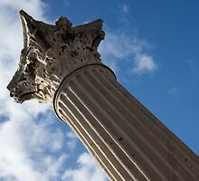 The Grandeur of Pompeii - a Corinthian Capital Column in the Sky by Georgia Mizuleva