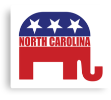 North Carolina Republican Elephant Canvas Print