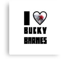 I Heart Bucky Barnes Canvas Print