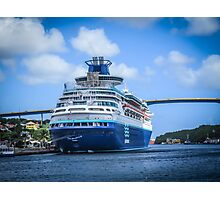 Cruise the deep blue sea Photographic Print