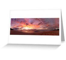 Wombarra Beach sunrise panorama Greeting Card