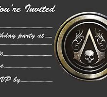 Assassins creed party invite by Zoe Gentz
