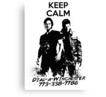Keep Calm Dial-a-Winchester Canvas Print