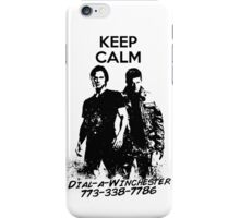 Keep Calm Dial-a-Winchester iPhone Case/Skin