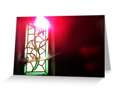 Floral Stained Glass - Paris Greeting Card