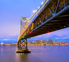 Bay Bridge in San francisco by Jerome Obille