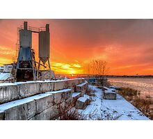 Winter sunset over the Meadowlands Photographic Print