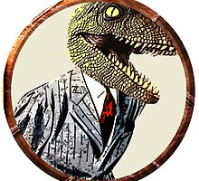 Dinosaur in a suit by Rob Cox