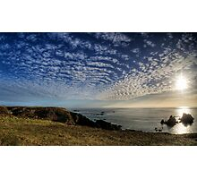 The Sun over the Gannet Rocks Photographic Print