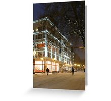 winter streetscape Greeting Card