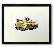 Military Tank Cartoon Framed Print