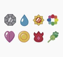 Kanto Pokemon Badges (Without Shadow) by Proxish