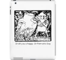 Irish You A Happy St Patricks Day iPad Case/Skin