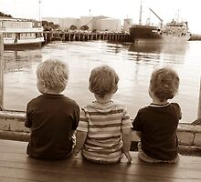 Three little boys by chrissy mitchell