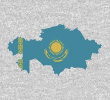Kazakhstan Flag Map by cadellin
