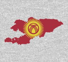 Kyrgyzstan Flag Map by cadellin