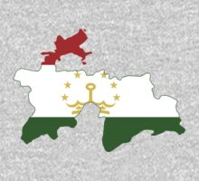 Tajikistan Flag Map by cadellin
