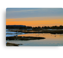 Winter Sunset on the Nissequogue River Canvas Print