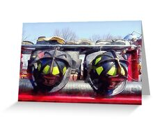 Fire Helmet and Boots Greeting Card