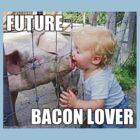 "Viral Meme of Little Boy Kissing Pig ""Future Bacon Lover"" Photograph by KTMorgan"