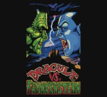 Dracula Vs Frankenstein by loogyhead