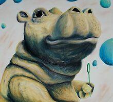 Hippo & Bubbles by Jennifer Hanson