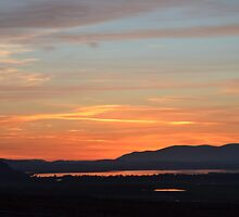 Red sky over the loch by Pete Johnston