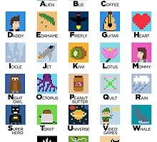 Pixel Art Alphabet by kevinbrokeit