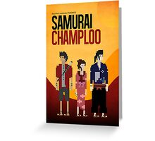 Pixel Art - Samurai Champloo Greeting Card