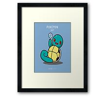 Pokedex: Squirtle Framed Print