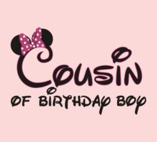 Cousin of birthday boy with Minnie ears by sweetsisters
