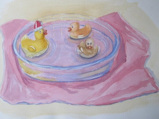 Ducks in a Bowl by Geraldine M Leahy