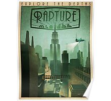 Rapture Art-Deco Travel Poster Poster
