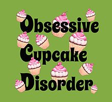 Cute Green with Pink Obsessive Cupcake Disorder by tsuttles