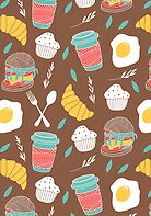 Breakfast pattern by Rin Ohara
