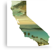 California Collage Canvas Print