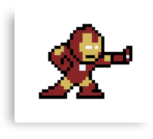 8-Bit Iron Man Canvas Print