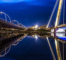 Two Southport Bridges Spanning The Marine Lake by Paul Madden