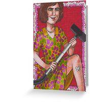 Domestic Goddess Greeting Card