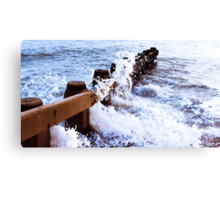 st leonards on sea breakers  Canvas Print