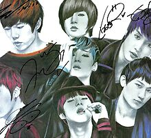 U-Kiss Full Drawing (signed) by Shannon Rudder