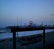 evening at the boardwalk by silviasunflower