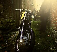 Cafe Racer in the Alley by Kyle Yarrington