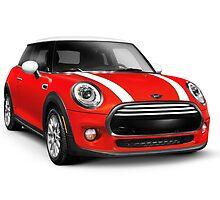Red 2014 Mini Cooper Hardtop car art photo print by ArtNudePhotos