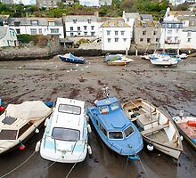 Polperro fishing boats, Cornwall by photoeverywhere