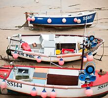 Small fishing boats, St Ives harbour by photoeverywhere